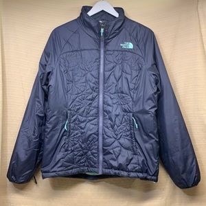 North Face Catawissa Jacket Insulated Floral Quilted Purple/Teal Zipper VGUC